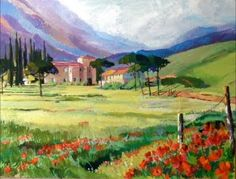 Pin Italian Countryside Paintings on Pinterest