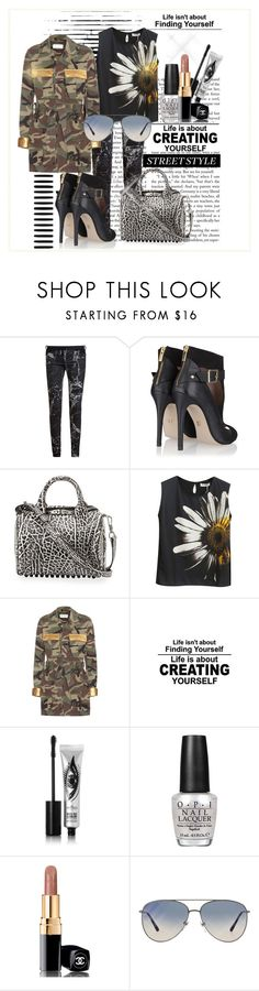 """""""Finding Nemo..."""" by commedia ❤ liked on Polyvore featuring Balenciaga, Alexander Wang, Chicnova Fashion, Yves Saint Laurent, Eyeko, OPI, Chanel and Burberry"""