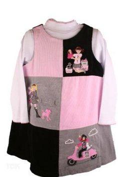 (Discounted) Good Lad Toddler Black Paris Corduroy Dress