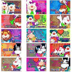 Distribuidor de peluches bogotá, tarjetas, afiches, cajas con mensaje y chocolates, bolsas de regalo, cajas de empaque, detalles en general, expresión social. Social, Chocolates, Baseball Cards, Mugs, Bag Packaging, Happy Birthday, Plushies, Crates, Messages
