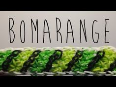 Rainbow Loom BOMARANGE Bracelet. Designed and loomed by Mario at Officially Loomed