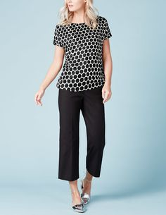 Like the basic color but fun with pattern. Ravenna Top WA713 Short Sleeved Tops at Boden