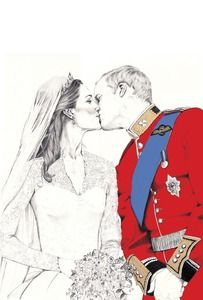 love this royal wedding illustration - gorgeous ...
