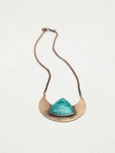 Free People Agate Shield Necklace, #freepeople