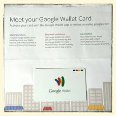 It has arrived! Now just need a #Google #Chromebook to go with my #GoogleWalletCard
