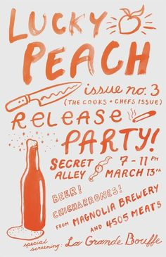 Lucky Peach // Release Party Flyer