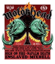 GigPosters.com - Motorhead - High On Fire - Napalm Death - Enslaved - Mixhell