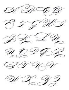 Exemplars - madarsz script - copperplate/spencerian hybrid Calligraphy Fonts Alphabet, Copperplate Calligraphy, Tattoo Lettering Fonts, Hand Lettering Alphabet, Lettering Styles, Graffiti Lettering, Penmanship, Caligraphy, Cursive