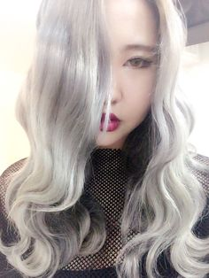My new look  Ft. Silver AF  Silver hair  Vampire makeup  Korean makeup   Follow xxdna on instagram & support me❤️💕