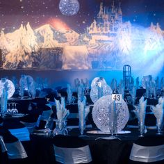Winter Wonderland Theme - See Gallery for Props and Styling Elements Wonderland Events, Winter Wonderland Theme, Wonderland Party, Winter Party Themes, Christmas Party Decorations, Winter Engagement Party, Lighted Centerpieces, Centrepieces, Birthday Greetings For Daughter