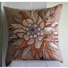 Almohada decorativa cubiertas 16 x 16 marrón por TheHomeCentric