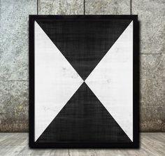 Geometric Prints Geometric Art  Geometric Wall Art Print Digital Download black and white print