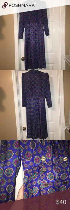 VINTAGE BLUE PATTERNED DRESS Vintage Maggy Boutique dress. Lowball me on this item! Vintage Dresses