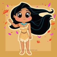 Chibi Pocahontas by *Jennifairyw on deviantART