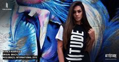 The beauty and the beast!! Beautiful Miss Brazil Bianca Rodrigues with her fav Attiitude T-shirt #fashion #style #streetstyle #instafashion #streetwear #fashionblogger