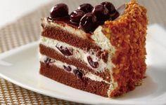 tort cu visine Dessert Cake Recipes, Sweet Desserts, Food Cakes, Biscotti, Tiramisu, Cheesecake, Food And Drink, Cooking Recipes, Cupcakes