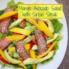 Mango Avocado Salad with Sirloin and Citrus Vinigerette | Real Food Real Deals #healthy #recipe