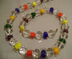 Glass candy necklace from facebook.com/beadcreations