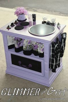 Glimmer & Grit: End Table Play Kitchen #2