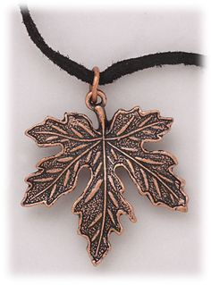Beautiful leaf jewelry, love it just gorgeous! By Simply Whispers hypoallergenic and nickel free Jewelry necklace and pendant antiqued copper leaf on genuine black suede cord 18 inches