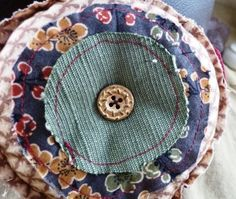 Layered Pin Cushion with Unfinished Edgings by thestringlady, $9.99