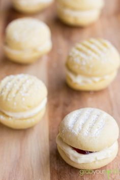 Melting Moments with Jam #shortbread #cookies #jam