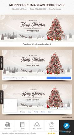 Merry Christmas Facebook Cover | DOWNLOAD HERE : https://graphicriver.net/item/merry-christmas-facebook-cover/18809416?ref=sinzo