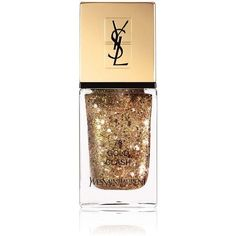 Yves Saint Laurent Beauty Women's La Laque Couture (795 UYU) ❤ liked on Polyvore featuring beauty products, nail care, nail polish, gold, yves saint-laurent nail polish and yves saint laurent