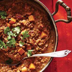 Un plat indien végétarien revu par Ricardo, qui se prépare presque tout seul à l'aide d'une mijoteuse!