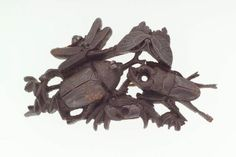Kanamono in the form of a group of insects  Japanese, Edo Period, mid-19th century  Masahide, Japanese, Main material: iron; decorative technique: uchidashi, takabori, MFA