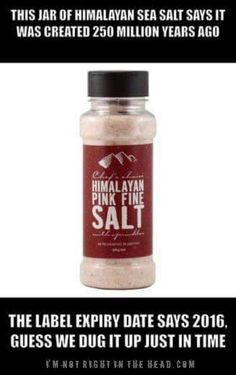 Need to take this with a pinch of salt :)