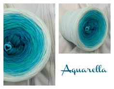 Aquarella: Hochbauschacryl 7 Farben (Mix) petrol türkis oceangrün helltürkis aqua eisblau weiss