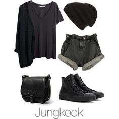 Ideal Type Fashion: Jungkook by btsoutfits on Polyvore featuring H&M, Converse, MANGO, Phase 3 and MTWTFSS Weekday