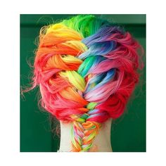 multi colored ombre hair « claireverity found on Polyvore.