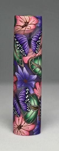 Majestic Squire Flowers 74 Polymer Clay Pen Blank