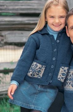 Perfect for season-long winter wear, the Child's Snowflake Cardigan is a cold weather must. This darling knit cardigan pattern features two front pockets with a decorative Fair Isle snowflake motif.