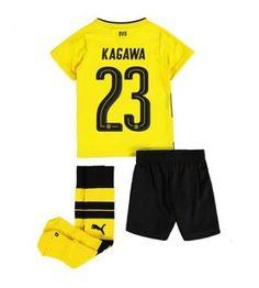 Dortmund Shinji Kagawa 23 Hemmaställ Barn 17-18 Kortärmad Shinji Kagawa, Lionel Messi, Neymar, Ronaldo, Mario, Trunks, Sports, Swimwear, Marco Reus
