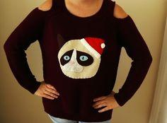 DIY Grumpy Cat Christmas Sweater
