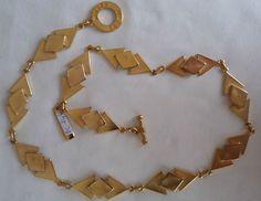 Vintage, anni  70, Pierre Cardin necklace, collana colore oro
