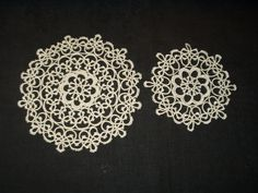 The Gatherings Antique Vintage - 2 Vintage Hand Tatted Tatting Lace Table Doily Mats, $18.50 (http://store.the-gatherings-antique-vintage.net/2-vintage-hand-tatted-tatting-lace-table-doily-mats/)