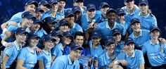 Novak Djokovic and the ballkids  What a super pic Novak after winning ATP World Tour Championship in London on 22nd November, 2015.