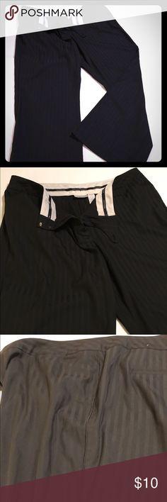 Black pinstripe tuxedo pants 20W Black pinstripe tuxedo pants with silk piping. Worthington dress pants 20W Worthington Pants Trousers