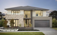 Get The Ultimate Sentosa Family Melbourne Home Design By Metricon - New Ideas Two Story House Design, 2 Storey House Design, Two Storey House, House Front Design, Double Storey House Plans, Home Building Design, Home Design, Building A House, Facade Design
