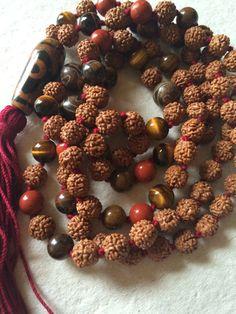 108 Mala Beads, Mala Necklace, Rudraksha Seed, Grounding and Protection, Meditation Mala, Yoga Mala Jewelry,Buddhist Mala, Prayer Beads