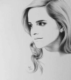 Harry potter drawings, harry potter art, celebrity drawings, how to draw hair, Harry Potter Sketch, Harry Potter Drawings, Harry Potter Art, Pencil Art Drawings, Cool Art Drawings, Art Drawings Sketches, Portrait Sketches, Pencil Portrait, Emma Watson Sketch