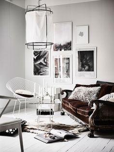 Stylish Monochrome Swedish Apartment
