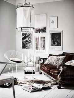 gallery wall - monochrome swedish apartment | photo anders bergstedt