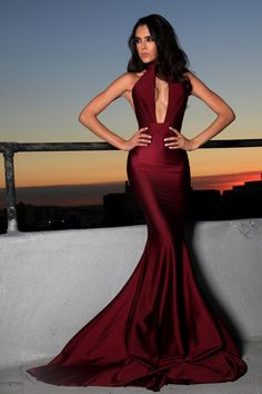 Love Love Love. Perfect Gown and I love the Wine color.