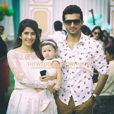 Syra & Shehroz on their daughter's First Birthday <3