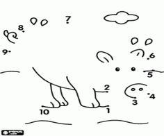 Colorear Une los puntos para dibujar un cerdo